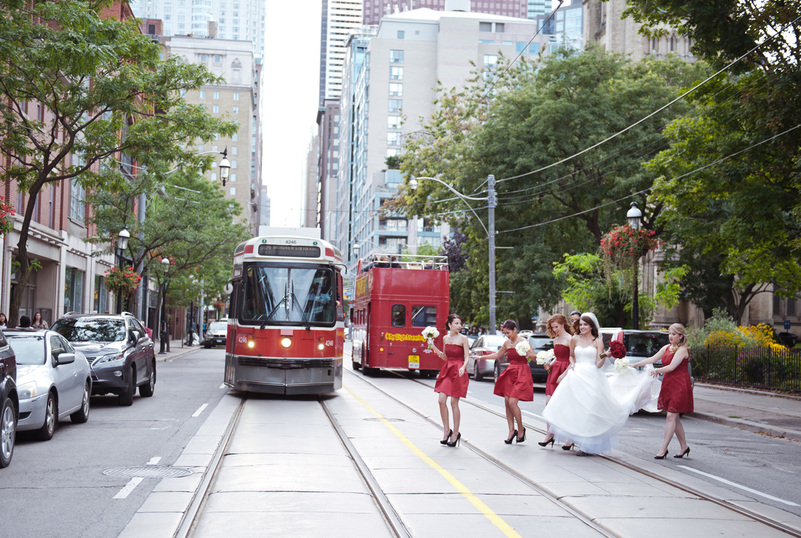 La maquette wedding toronto, toronto street car wedding, toronto wedding photography